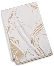 "30"" x 56"" Marble Turkish Cotton Fashion Bath Towel, Created for Macy's"