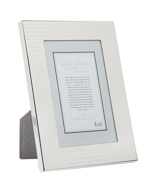 Philip Whitney Etched Stripes Frame - 4x6