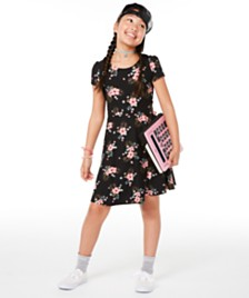 Epic Threads Big Girls Floral-Print Bow-Back Dress, Created for Macy's