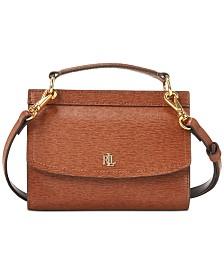 Lauren Ralph Lauren Leather Top-Handle Convertible Belt Bag