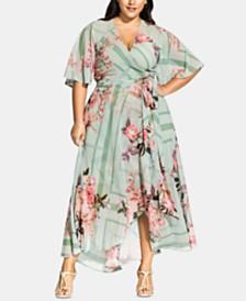 City Chic Trendy Plus Size Sierra Scarf Maxi Dress