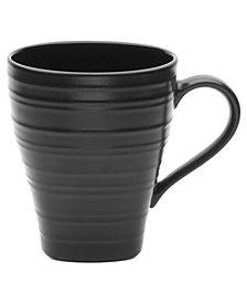 Mikasa Dinnerware, Swirl Square Black Mug