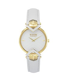 Versus Women's White Leather Strap Watch 16mm