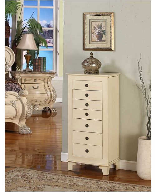 Nathan Direct Cayman 6-Drawer Locking Jewelry Armoire