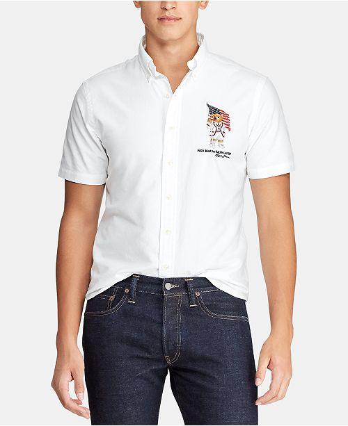 Polo Ralph Lauren Men's Big & Tall Classic Fit Bear Oxford Cotton Shirt