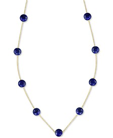 "EFFY® Onyx (6mm) 18"" Statement Necklace in 14k Gold (Also in Lapis Lazuli)"