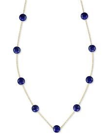 "EFFY® Onyx (6mm) 18"" Statement Necklace in 14k Gold (Also in Lapis Lazuli)"