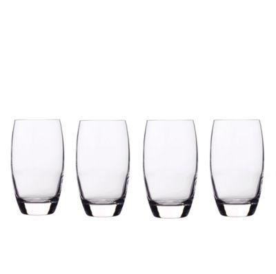 Glassware, Set of 4 Crescendo Highball Glasses