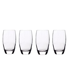 Glassware, Set of 4 Crescendo Highball Glasses