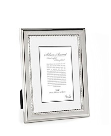 Philip Whitney Polished Silver Frame with Beads - 4x6