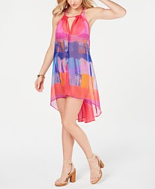 I.N.C. Tie-Dyed Beach Dress, Created for Macy's