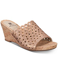 Atlie Embellished Wedge Sandals, Created for Macy's