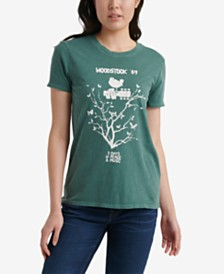 Lucky Brand Cotton Woodstock Graphic T-Shirt