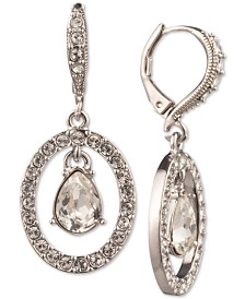 Givenchy Crystal Orbital Drop Earrings