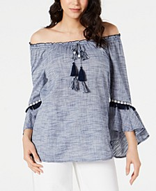 Off-The-Shoulder Neck Top, Created for Macy's