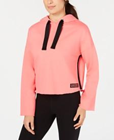 Calvin Klein Performance Bell-Sleeve Cropped Hoodie