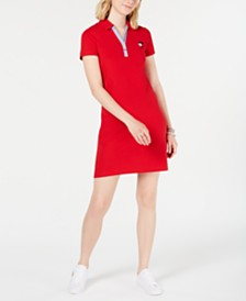 Tommy Hilfiger Short-Sleeve Polo Dress, Created for Macy's