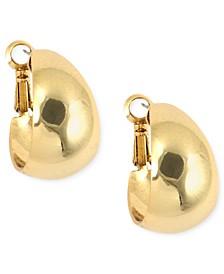 """3/4"""" Medium Band Small Hoop Earrings"""