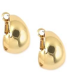 """Anne Klein 3/4"""" Medium Band Hoop Earrings"""