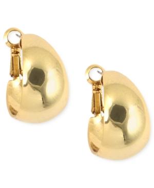 Anne Klein  GOLD-TONE MEDIUM BAND HOOP EARRINGS