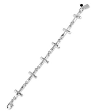 Robert Lee Morris Soho Bracelet, Silver-Tone Cross Link Bracelet