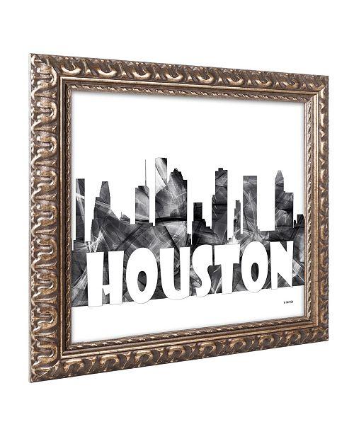 Home Decor Stores Houston Tx: Trademark Global Marlene Watson 'Houston Texas Skyline BG