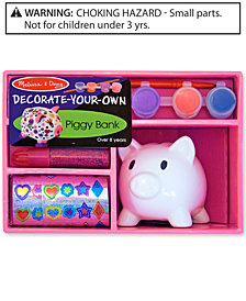 Melissa and Doug Kids Toys, Decorate Your Own Piggy Bank
