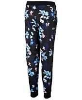 02a5c9a62c06e9 adidas Big Girls Floral-Print Tricot Jogger Pants