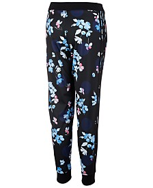 adidas Big Girls Floral-Print Tricot Jogger Pants