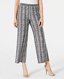 Petite Striped Culotte Pants