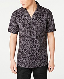 INC Men's Animal Print Camp Shirt, Created for Macy's