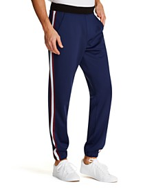 Tallia Men's Tappered Stretch Vertical Stripe Jogger Pants