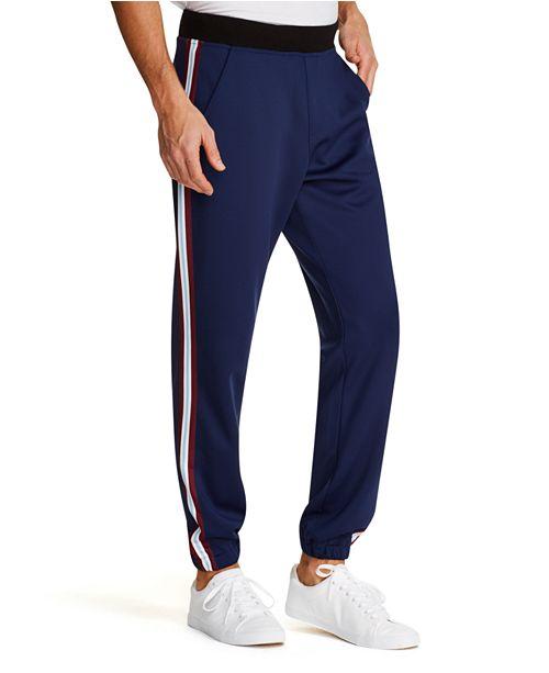 Tallia Men's Tappered Stretch Vertical Stripe Jogger Pants