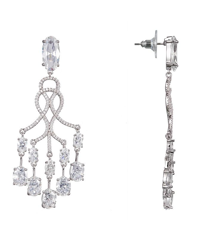 Nina Pave Chandelier Earrings