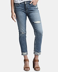 Silver Jeans Co. Elyse Distressed Slim-Leg Ankle Jeans