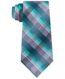 Van Heusen Men's Bruce Classic Plaid Silk Tie
