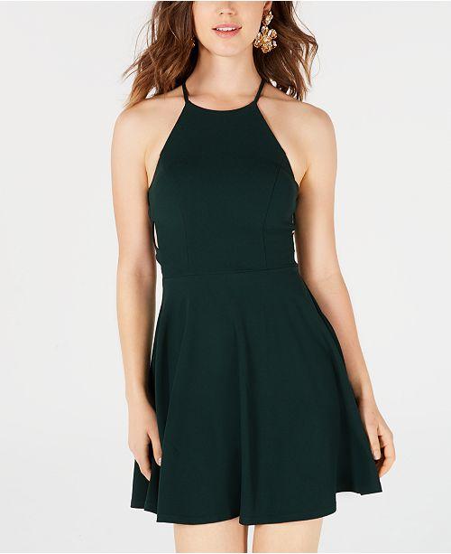 a2190635bccc B Darlin Juniors' Crisscross Fit & Flare Dress & Reviews - Dresses ...