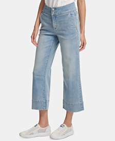DKNY Cropped Sailor Jeans