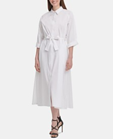 DKNY Tie-Front Shirtdress