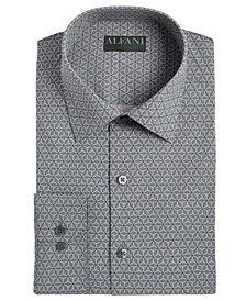 Alfani Men's Alfatech Slim-Fit Performance Stretch Wrinkle-Resistant Moisture-Wicking Geo-Print Dress Shirt, Created for Macy's