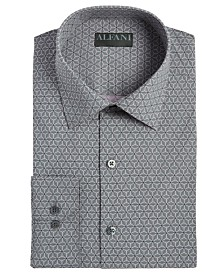 Alfani Men's Alfatech Slim-Fit Performance Stretch Wrinkle-Resistant Moisture-Wicking Geo-Print Dress Shirt, Created for Macy's