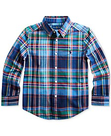 Toddler Boys Stretch Poplin Shirt