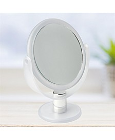 Dual Sided 10X Magnification Rubberized Vanity Mirror
