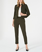 762fe16ad6 Kasper Stand-Collar Blazer & Ankle Pants