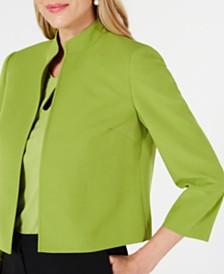 Kasper Petite Stand-Collar Open-Front Jacket