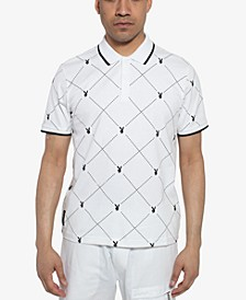Men's Playboy Collection Printed Polo
