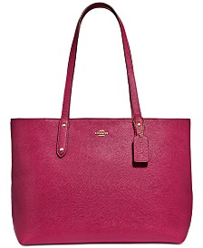 COACH Central Tote In Polished Pebble Leather