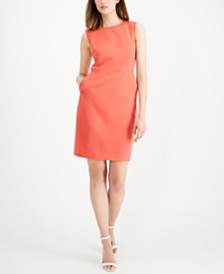Anne Klein Twill Sheath Dress