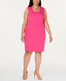 Kasper  Plus Size Crepe Dress