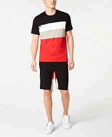 I.N.C. Men's Swellers Colorblocked Stripe Graphic T-Shirt & Sweatshorts, Created for Macy's